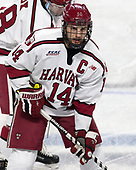 Alexander Kerfoot (Harvard - 14) - The Harvard University Crimson defeated the Providence College Friars 3-0 in their NCAA East regional semi-final on Friday, March 24, 2017, at Dunkin' Donuts Center in Providence, Rhode Island.