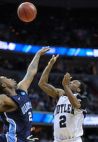 Shawn Vanzant of the Bulldogs pulls up for a shot over Marquel De Lancey. Butler defeated Old Dominion 60-58 during the NCAA tournament at the Verizon Center in Washington, D.C. on Thursday, March 17, 2011. Alan P. Santos/DC Sports Box