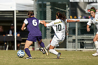 SAN ANTONIO, TX - NOVEMBER 4, 2012: The Big 12 Conference Women's Soccer Championship Game featuring the Baylor University Bears vs. the Texas Christian University Horned Frogs at Blossom Soccer Stadium. (Photo by Jeff Huehn)