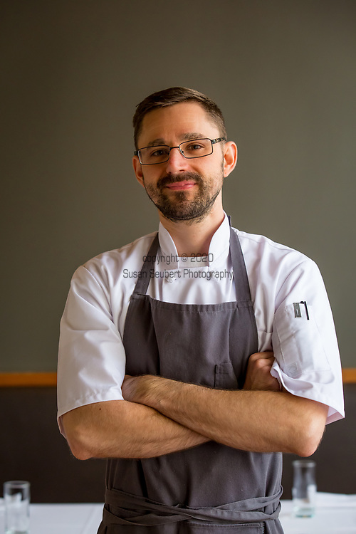 Executive Chef Justin Woodward at Castagna, a restaurant and cafe in SE Portland, Oregon