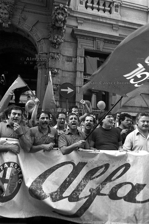 8 Luglio 1988 Milano: Sciopero lavoratori Alfa Romeo<br /> July 8 1988 Milan: Alfa Romeo workers on strike