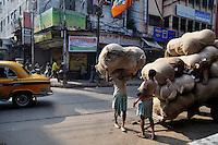 Migrant labourers at work in Kolkata.West Bengal, India, 2009, Arindam Mukherjee