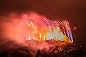 Edinburgh, UK. 01.09.2013. The Virgin Money Fireworks concludes the Edinburgh International Festival 2013. The Scottish Chamber Orchestra play Mussorgsky's PICTURES AT AN EXHIBITION  to accompany the pyrotechnics. Photograph © Jane Hobson.