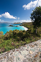 Trunk Bay from the overlook.St John.Virgin Islands National Park