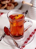 Russian Tea in tall Tea Glas