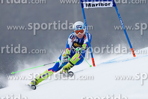 "DREV Ana of Slovenia competes during 1st Run of FIS Alpine Ski World Cup 7th Ladies' Giant Slalom race named ""49th Golden Fox 2013"", on January 26, 2013 in Mariborsko Pohorje, Maribor, Slovenia. (Photo By Vid Ponikvar / Sportida.com)"