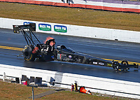 Mar 18, 2017; Gainesville , FL, USA; NHRA top fuel driver Shawn Reed during qualifying for the Gatornationals at Gainesville Raceway. Mandatory Credit: Mark J. Rebilas-USA TODAY Sports
