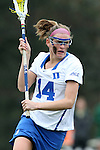22 February 2015: Duke's Taylor Trimble. The Duke University Blue Devils hosted the College of William & Mary Tribe on the West Turf Field at the Duke Athletic Field Complex in Durham, North Carolina in a 2015 NCAA Division I Women's Lacrosse match. Duke won the game 17-7.