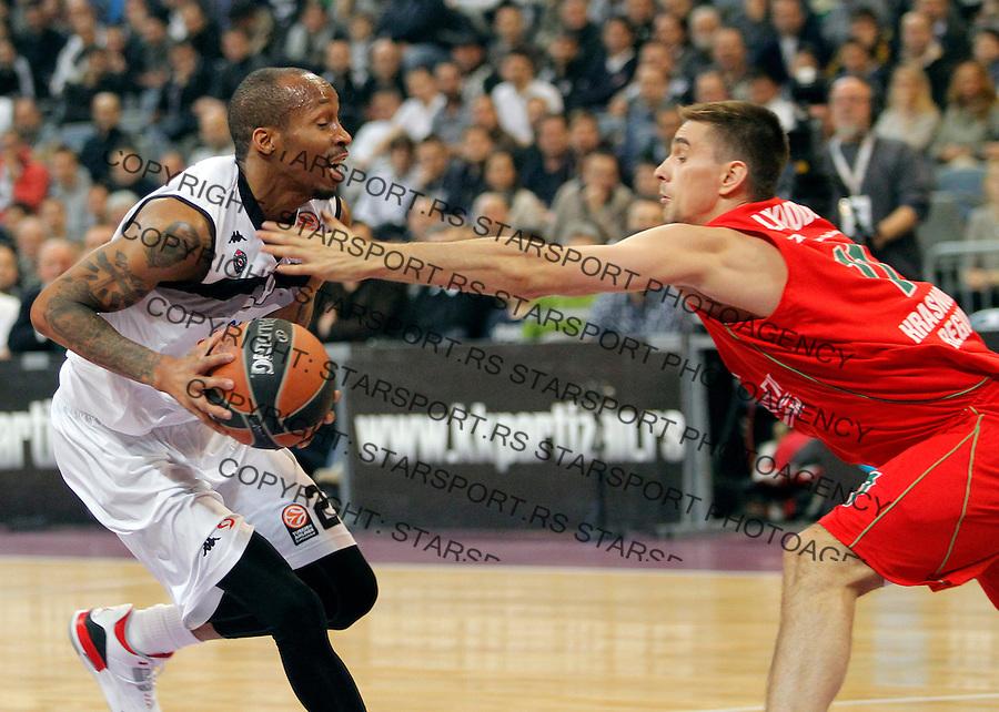 Tarence Kinsey Euroleague, Evroliga, Partizan - Lokomotiv Kuban Januar 31, 2014. in Belgrade, Serbia (credit image & photo: Pedja Milosavljevic / STARSPORT / +318 64 1260 959 / thepedja@gmail.com)