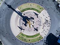 Angel de la Independencia, Avenida Reforma, aerial drone photography, Mexico City, Mexico
