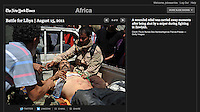 Screengrab of &quot;Battle for Libya&quot; published in Lens Blog - New York Times