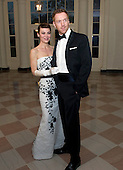 Damian Lewis and Helen McCrory arrive for the Official Dinner in honor of Prime Minister David Cameron of Great Britain and his wife, Samantha, at the White House in Washington, D.C. on Tuesday, March 14, 2012..Credit: Ron Sachs / CNP.(RESTRICTION: NO New York or New Jersey Newspapers or newspapers within a 75 mile radius of New York City)