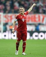 FUSSBALL   1. BUNDESLIGA  SAISON 2011/2012   31. Spieltag FC Bayern Muenchen - FSV Mainz 05       14.04.2012 Bastian Schweinsteiger (FC Bayern Muenchen)