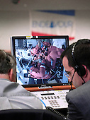 NASA Managers monitor the crew as they board the Space Shuttle Endeavour (STS-118) from the Launch Control Center Wednesday, August 8, 2007, at the Kennedy Space Center in Cape Canaveral, Fla. The Shuttle lifted off from launch pad 39A at 6:36p.m. EDT. Photo Credit: &quot;NASA/Bill Ingalls&quot;
