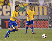 Brazil midfielder Paulo Henrique Ganso (10) at midfield. Brazil  defeated the US men's national team, 2-0, in a friendly at Meadowlands Stadium on August 10, 2010.