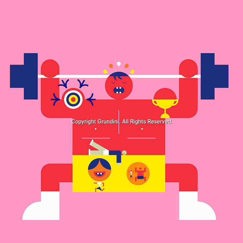Abstract weightlifter ExclusiveImage ExclusiveArtist