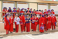 Ladies of the Hat - Red Hat.  Fredericksburg, VA April 2008  These ladies get together to party and have a good time.