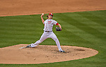 1 April 2013: Washington Nationals pitcher Tyler Clippard on the mound in the 8th inning of the Nationals' Opening Day Game against the Miami Marlins at Nationals Park in Washington, DC. The Nationals shut out the Marlins 2-0 to launch the 2013 season. Mandatory Credit: Ed Wolfstein Photo *** RAW (NEF) Image File Available ***