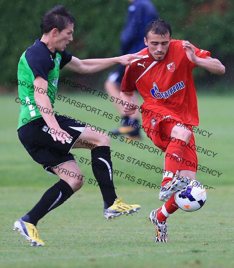 Fudbal season 2013-2014<br /> FK Crvena Zvezda pripreme<br /> Prijateljski mec<br /> Crvena Zvezda v Verzej<br /> Nenad Gavric (R)<br /> Brezice, 07.09.2014.<br /> foto: Srdjan Stevanovic/Starsportphoto &copy;