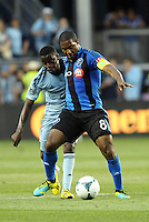 KANSAS CITY, KS - June 1, 2013:<br /> Patrice Bernier (8) midfield Montreal Impact in action.<br /> Montreal Impact defeated Sporting Kansas City 2-1 at Sporting Park.