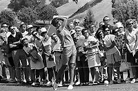 Kathy Whitworth tees off during the LPGA tourney at Round Hill CC in Alamo,Ca (1969 photo/Ron Riesterer)