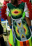 Preparation and dressing forThunderbird Pow-Wow at Queens County Farm Museum. Native American heritage