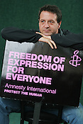 MARK THOMAS, POLITICAL ACTIVIST, STAND UP COMEDIAN, AUTHOR. EDINBURGH INTERNATIONAL BOOK FESTIVAL. Friday 18th August 2006. Over 600 authors from 35 countries are appearing at the Edinburgh International Book festival during 12th-28th August. The festival takes place in historic Edinburgh city, a UNESCO City of Literature.