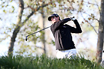 KANNAPOLIS, NC - APRIL 09: South Carolina's Will Miles tees off on the 10th hole. The third round of the Irish Creek Intercollegiate Men's Golf Tournament was held on April 9, 2017, at the The Club at Irish Creek in Kannapolis, NC.