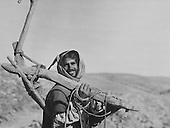 Arab with traditional plough, 1920s