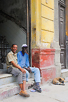 Cuban People, Vintage Cars, Street Life & Building Architecture.Havana, Cuba.Central Havana District (Centro Habana)