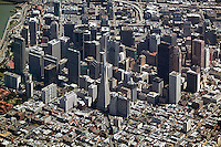 aerial photograph Transamerica Pyramid, Embarcadero Center, San Francisco, California