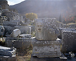 Archaeological ruins in Ephesus, Turkey