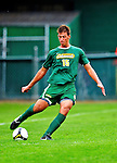 12 September 2010: University of Vermont Catamount defender Salvatore Borea, a Freshman from New Canaan, CT, in action against the Cornell University Big Red at Centennial Field in Burlington, Vermont. The Catamounts defeated the Big Red 2-1. Mandatory Credit: Ed Wolfstein Photo