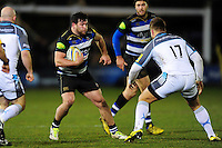 Nathan Catt of Bath Rugby in possession. Aviva Premiership match, between Bath Rugby and Newcastle Falcons on March 18, 2016 at the Recreation Ground in Bath, England. Photo by: Patrick Khachfe / Onside Images