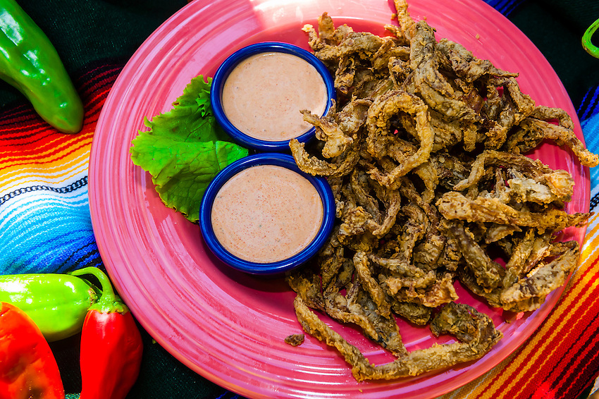 Green chile strips, El Pinto Restaurant and Cantina, Albuquerque, New Mexico USA