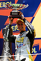 July 4, 2010 - Catalunya, Spain - Thomas Luthi (Interwetten Moriwaki Moto2) takes second place in the Catalunya Grand Prix, Spain, on July 4, 2010. (Photo Andrew Northcott/Nippon News).