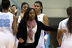 21 December 2013: UNC assistant coach Ivory Latta. The University of North Carolina Tar Heels played the High Point University Panthers in an NCAA Division I women's basketball game at Carmichael Arena in Chapel Hill, North Carolina. UNC won the game 103-71.