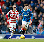 Emerson Hyndman gets away from Grant Gillespie