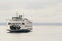 The Washington State ferry Tacoma makes it's way from Bremerton to Seattle, Washington.