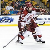 Brian Hart (Harvard - 39) - The Boston College Eagles defeated the Harvard University Crimson 4-1 in the opening round of the 2013 Beanpot tournament on Monday, February 4, 2013, at TD Garden in Boston, Massachusetts.