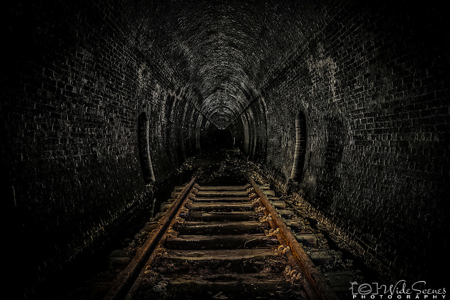 The disused railway tunnel at Helensburgh in NSW, Australia.