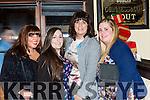 Tara Monaghan, Anne Shanahan, Loreto O'Leary and Niamh Long enjoying New Years eve in the Porterhouse restaurant Killarney on Saturday