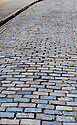 follow the blue brick road - san juan, puerto rico