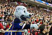 Louie, the St. Louis Blues' mascot, entertains the crowd at the 2011 NHL All-Star Game at the RBC Center in Raleigh, NC on 1/30/2011.