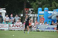 KAATSEN: BOLSWARD: 13-07-2014, Winnaars Jan Dirk de Groot, Dylan Drent en Hans Wassenaar (slaat de bal uit het perk), ©foto Martin de Jong