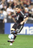 Santino Quaranta #25 of D.C. United makes a pass during an MLS match against the New England Revolution on April 3 2010, at RFK Stadium in Washington D.C.