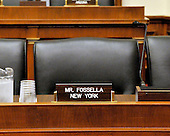 Washington, DC - May 7, 2008 -- United States Representative Vito J. Fossella's (Republican of New York) chair in the United States House Committee on Energy and Commerce is empty as he missed the meeting to mark-up several bills on Capitol Hill in Washington, DC on Wednesday, May 7, 2008.  Fossella has admitted to an extra-marital affair with Laura Fay, with whom he has fathered a daughter..Credit: Ron Sachs / CNP.(RESTRICTION: NO New York or New Jersey Newspapers or newspapers within a 75 mile radius of New York City)