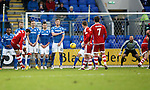 St Johnstone v Aberdeen...06.02.16   SPFL   McDiarmid Park, Perth<br /> Peter Pawlett scores to make it 2-0<br /> Picture by Graeme Hart.<br /> Copyright Perthshire Picture Agency<br /> Tel: 01738 623350  Mobile: 07990 594431