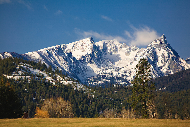 Trapper Peak in the Bitterroot Mountains in early spring