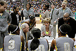 03 APR 2012:  Head Coach Kim Mulkey of Baylor University instructs her team during a timeout during the Division I Women's Basketball Championship held at the Pepsi Center in Denver, CO.  Jamie Schwaberow/NCAA Photos